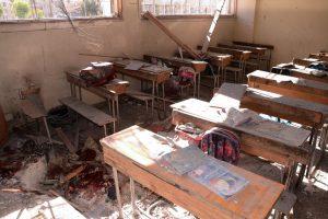 Alepe raketai pataikius į mokyklą žuvo mažiausiai septyni vaikai