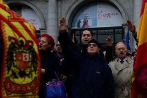 Keli šimtai ispanų paminėjo diktatoriaus F. Franco mirties metines