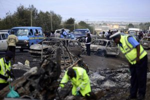Kenijoje benzinvežio sprogimo aukų skaičius pasiekė 40
