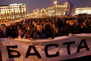 Politologas: protestai Baltarusijoje rodo, kad pokyčiai neišvengiami