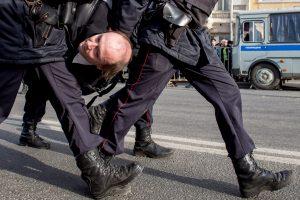 Maskvoje per protestus sulaikyta apie 500 žmonių