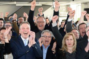 A. Merkel partija išlaikė pirmąjį savo populiarumo išbandymą