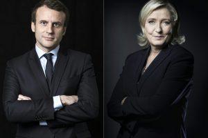 Kova dėl prezidento posto: E. Macronas ir M. Le Pen susirungs debatuose