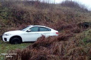 BMW vairuotojas nuo policijos spruko kemsynais