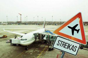 Streikas Lutono oro uoste atšauktas, bet rizika skrydžiams išlieka