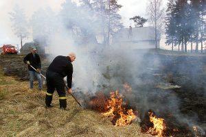 Šiemet Kauno apskrityje – 160 degančios žolės gaisrų