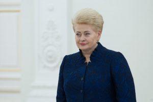 D. Grybauskaitė penkiems karininkams suteikė pulkininko laipsnius