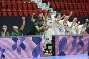 Lietuvos 20-mečiai krepšininkai pateko į Europos pirmenybių pusfinalį
