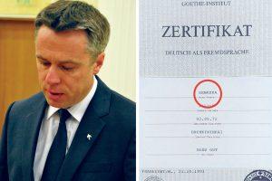 Ką konservatorius V. Semeška veikė Vokietijoje?
