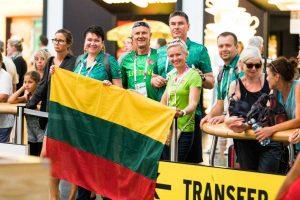 Lietuvos sportininkų delegacija įsikūrė Dėre