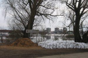 Pagėgių savivaldybės potvynio teritorija vaduojasi iš vandens gniaužtų