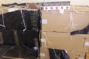 3 tūkst. pakelių kontrabandinių cigarečių į Lietuvą buvo įmesti iš Baltarusijos