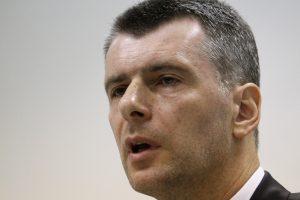 Milijardierius M. Prochorovas sulaužė du 2010 metais duotus pažadus