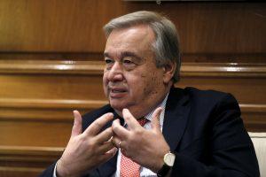 """Generalinę Asamblėją atidaręs JT vadovas perspėja apie """"chaotišką"""" pasaulio tvarką"""