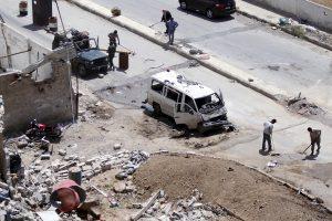 Sirijoje prie šiitų mečetės sprogus automobiliui, žuvo septyni žmonės
