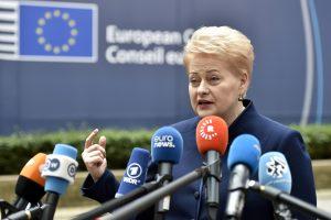 D. Grybauskaitė: britų pasitraukimui iš ES reikia tinkamai pasirengti