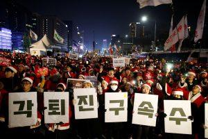 Seule pusė milijono protestuotojų reikalavo prezidentės nušalinimo