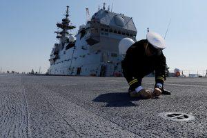Japonijos karo laivas lydės JAV tiekimo laivą Ramiajame vandenyne