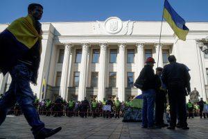 Prie Ukrainos parlamento sulaikytas ginkluotas vyras
