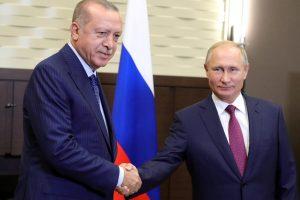 """V. Putinas: Rusija ir Turkija susitarė įkurti """"demilitarizuotąją zoną"""" aplink Idlibą"""