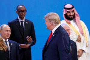 Prasidėjus G-20 susitikimui V. Putinas ir D. Trumpas nepasisveikino