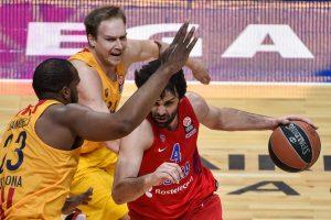 "CSKA patiesė ""Barcelona"" krepšininkus"