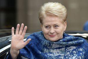 Prezidentė užima 72 vietą galingiausių pasaulio moterų šimtuke