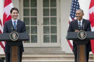 B. Obama pažadėjo aplankyti Kanadą ir kreiptis į jos parlamentą