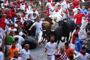 Per šių metų bulių bėgimus Pamplonoje nukentėjo iš viso 31 žmogus