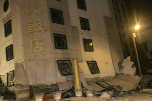 Taivane per žemės drebėjimą žuvo du ir sužeisti 144 žmonės