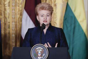 Prezidentė: D. Trumpo nenuspėjamumas yra stiprybė