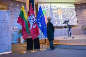 Europos Parlamente iškilmingai paminėtas Lietuvos Respublikos šimtmetis