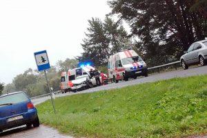 Per avariją Kauno rajone sužaloti automobilių vairuotojai