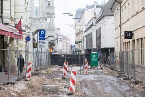 Rekonstruojamoje Vilniaus gatvėje bus transporto eismo draudimų