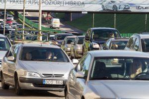 Dėl avarijos Vilniaus centre susidarė spūstys