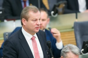 """M. Bastys yra organizavęs susitikimą su """"Rosatom"""" antrinės įmonės viceprezidentu"""