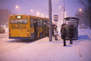 Sostinės transportui norima leisti nestoti dalyje stotelių, jei to neprašys keleiviai