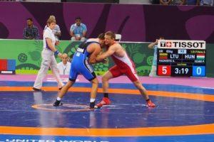 Lietuvos graikų-romėnų imtynininkai Europos žaidynėse Baku liko be apdovanojimų