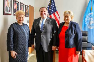 Prezidentė Niujorke aptarė gynybinį bendradarbiavimą su JAV ir Norvegija
