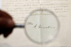 A. Einšteino raštelis Jeruzalės aukcione parduotas už 6 100 dolerių