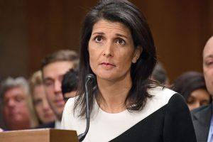 JAV Senato komitetas patvirtino N. Haley ambasadore Jungtinėse Tautose