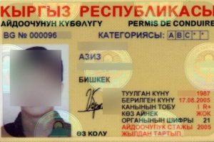 Tadžikas turėjo suklastotą kirgizišką vairuotojo pažymėjimą