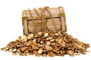 Kalifornijoje pora aptiko lobį aukso monetomis