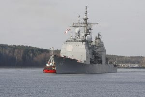 Į Klaipėdą atvyko JAV karo laivas
