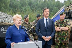 D. Grybauskaitė: NATO batalionai yra geriausia atgrasymo priemonė