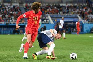 Belgijos futbolininkai nugalėjo Angliją ir užėmė pirmąją vietą grupėje