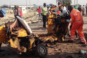 Nigerijoje sprogus užminuotam automobiliui žuvo 9 žmonės