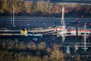 Liuksemburge susidūrus dviem traukiniams žuvo žmogus, keli sužeisti