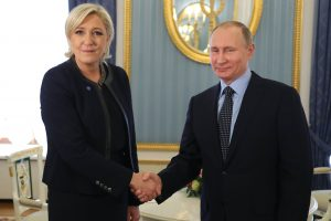 M. Le Pen: V. Putinas įkūnija naują pasaulio viziją