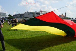 Kovo 11-ąją sostinės danguje skris laisvės vėliava